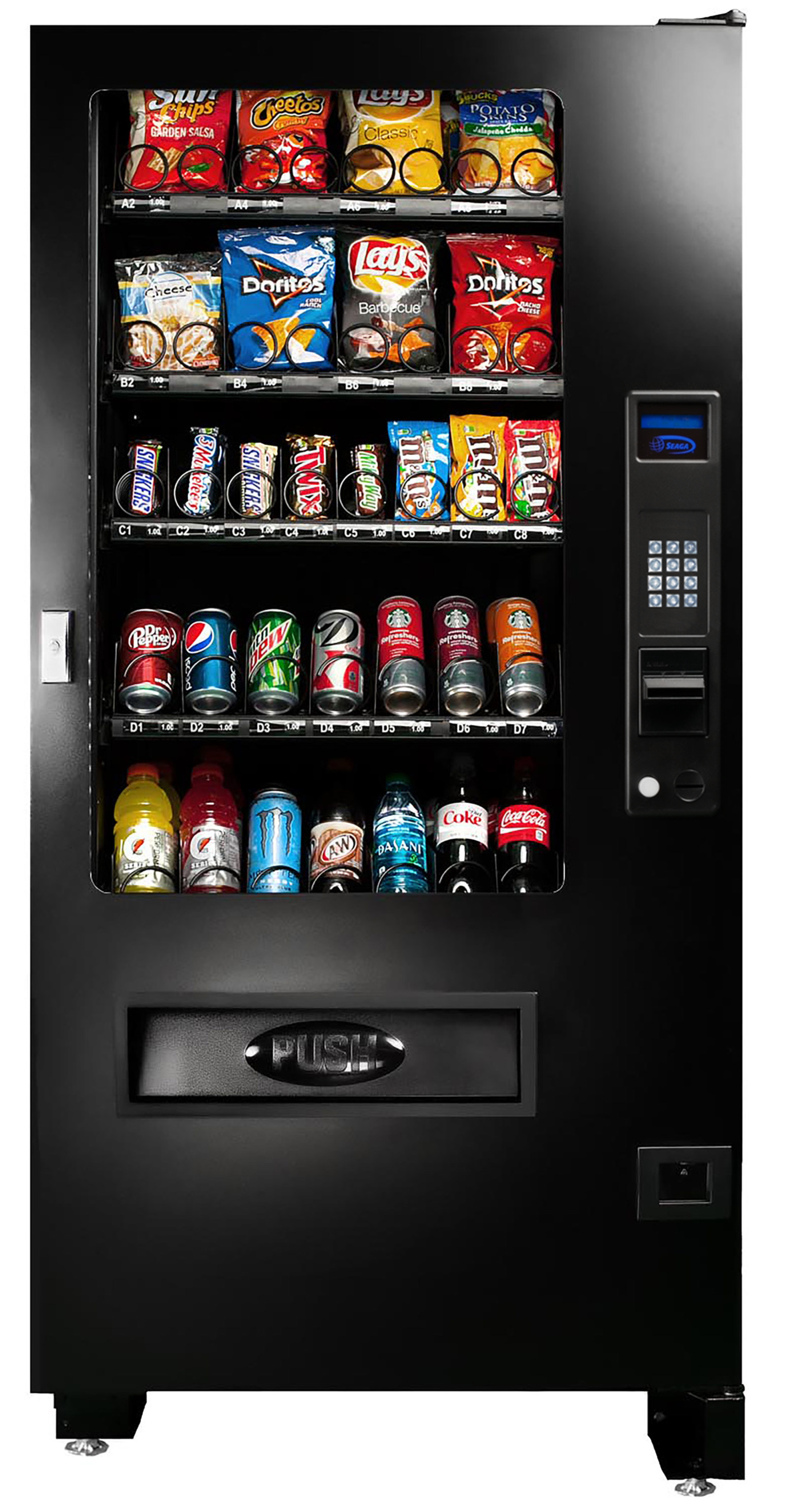 INF4C is great for locations with limited space and that don't need separate merchandisers for beverages & food..