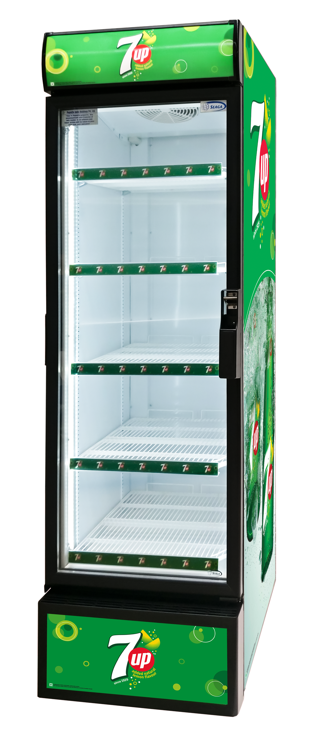 The S500 Glass Door Merchandiser by Seaga offers innovative technology to ensure the best refrigeration and high visibility presentation of your items