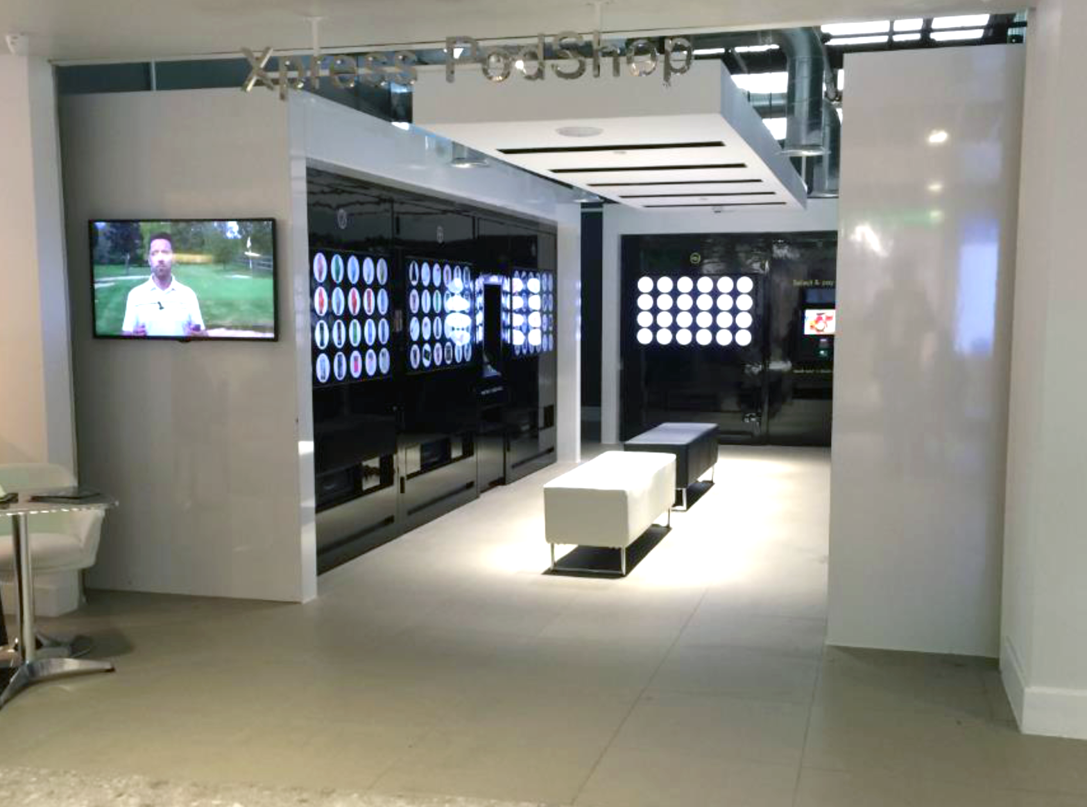 The Pod Shop is the ultimate automatic retail center. The widest variety of products in the world offered in a totally automatic setting.