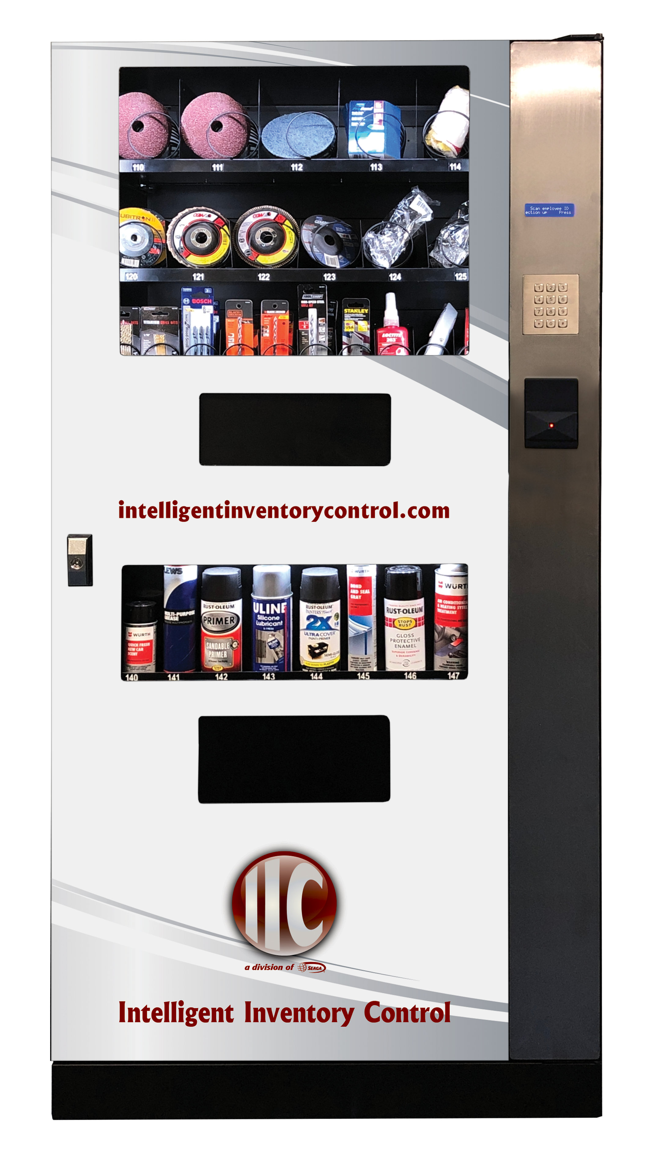 IIC Garrison is a hybrid industrial vending machine engineered to fit in market sectors for with smaller volume