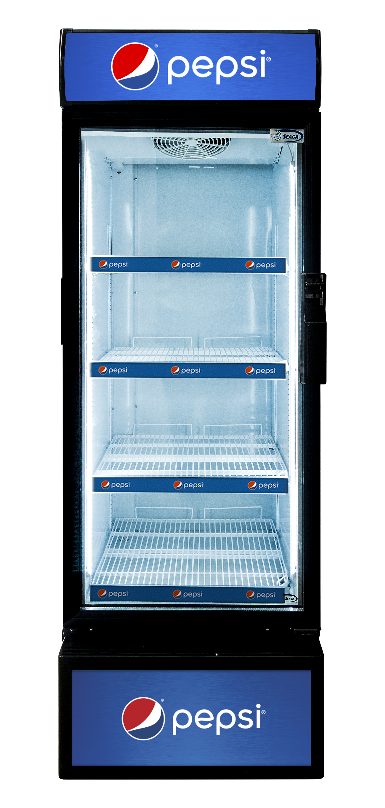 The S400 Visi-Cooler by Seaga offers proven innovative technology to ensure the best refrigeration and high visibility presentation of your items