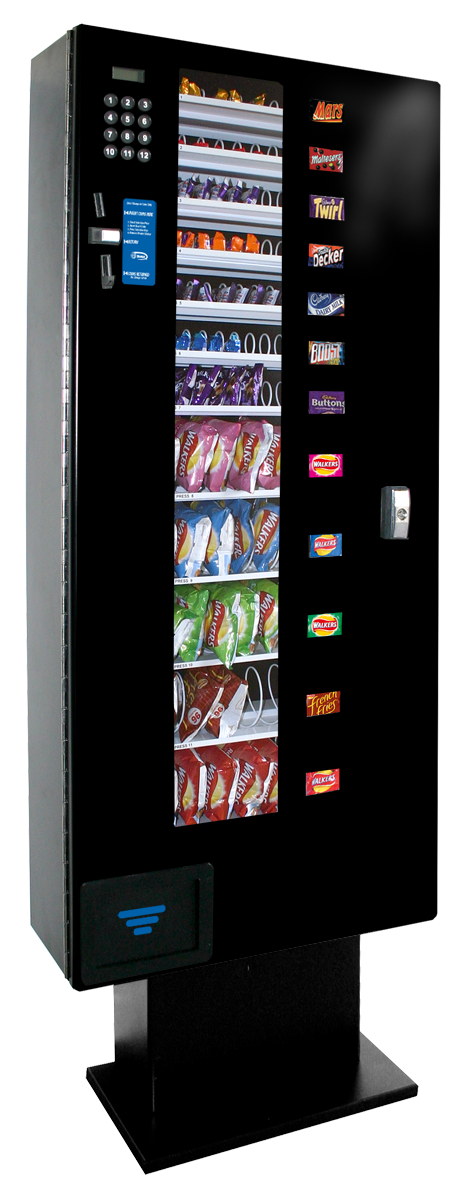 Best space saving snack vendor in its class, the Slim Line SL3100 snack features a reliable electronic design and a convenient optional battery operation
