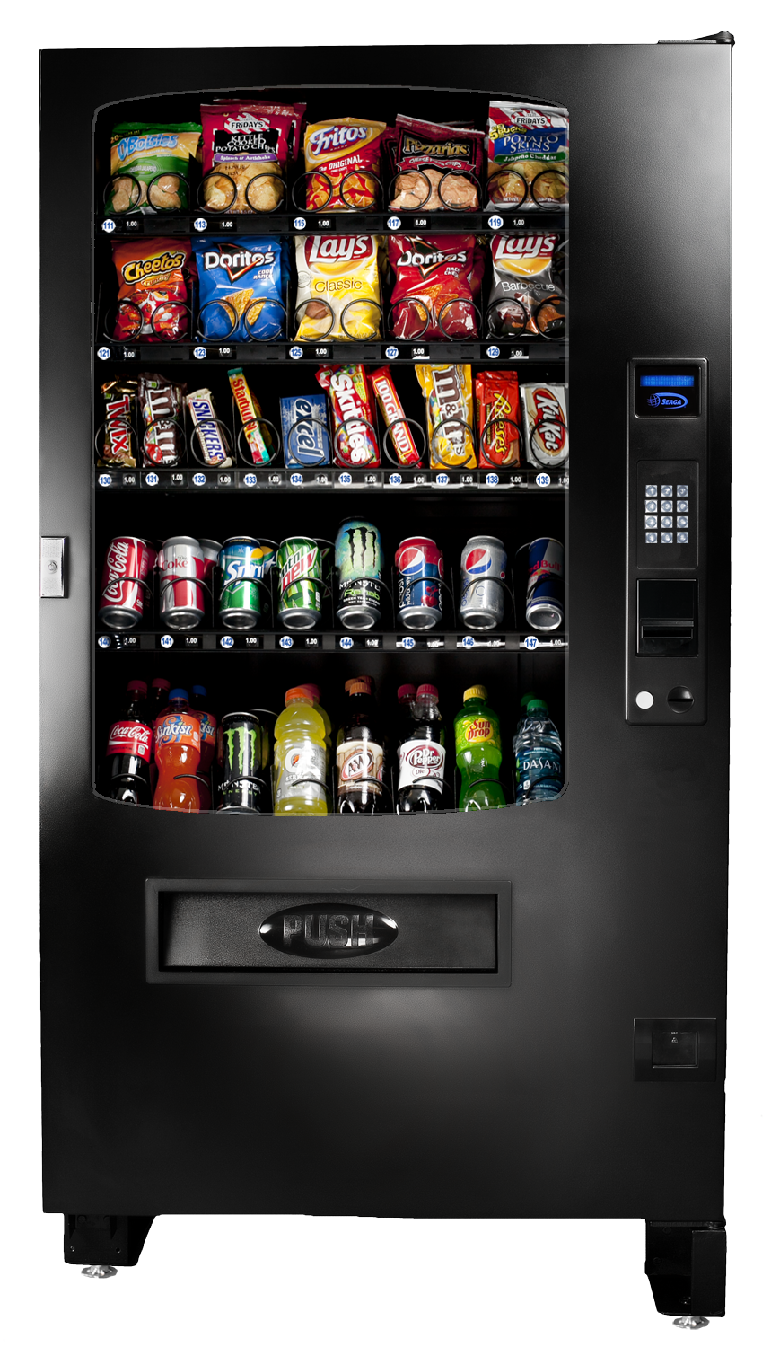 Seaga's INF5C affords operators the opportunity to provide customers with both beverages & food. Health & safety compliant and MDB and DEX capable
