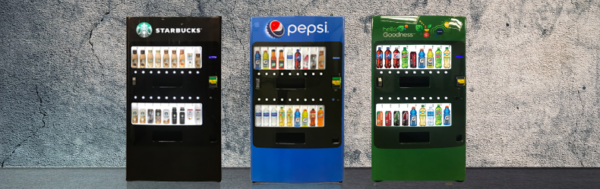 This coupled with the cost of glass front vendors Seaga engineered the Lean Vendor to serve a diverse product group